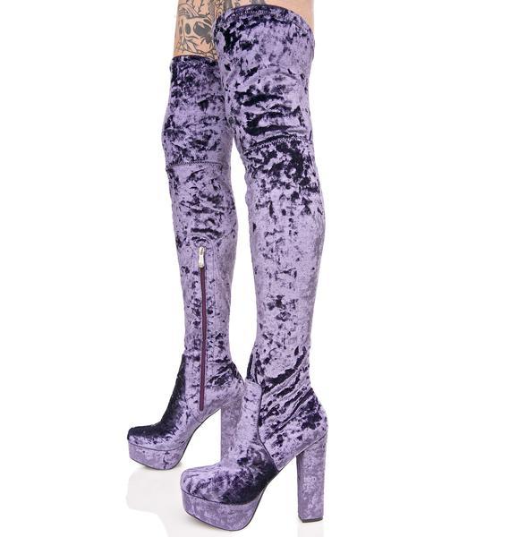 Hazy Elle Thigh-High Boots