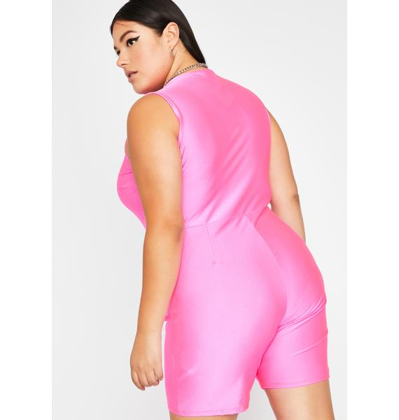 Candy Rile Me Up Zip Up Romper