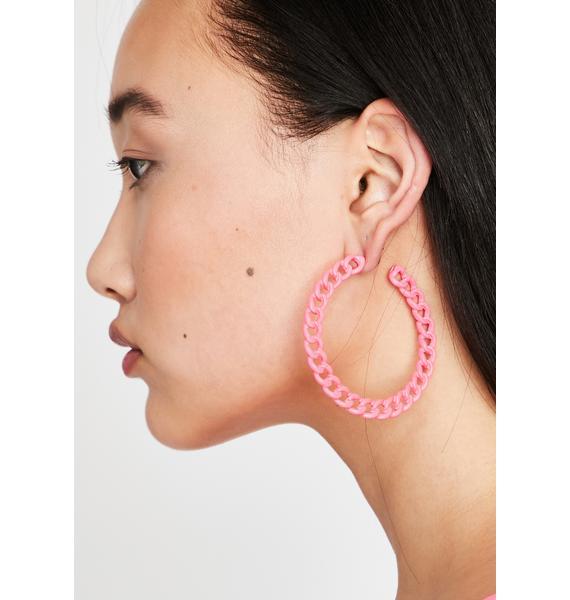 Miss Chainz N' Thangz Hoop Earrings