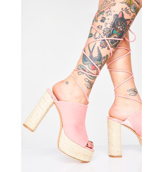 Public Desire Imogen Lace Up Heels