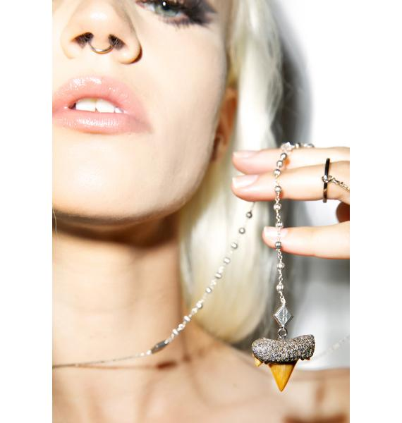 Vanessa Mooney The Remix Shark Tooth Rosary Necklace