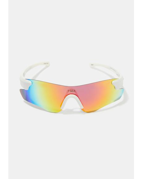 Cosmic White Rain Sunglasses