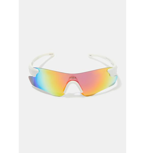 I-SEA Cosmic White Rain Sunglasses