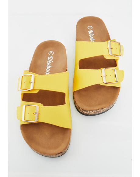 Sandy Paradise Buckle Sandals