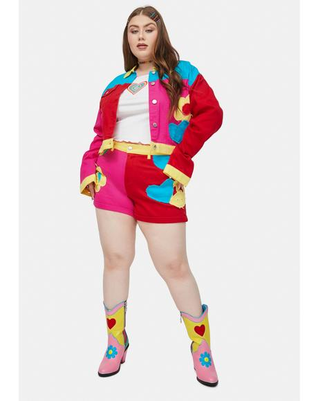 Her Free Luv Nation Colorblock Applique Twill Jacket
