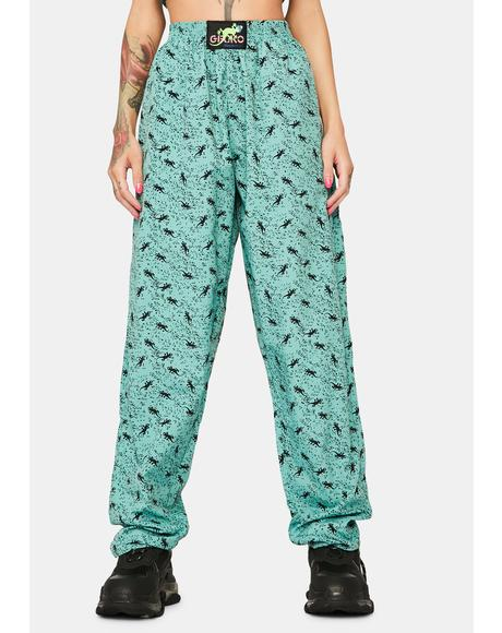 Mint Green Mini Gecko Beach Pants