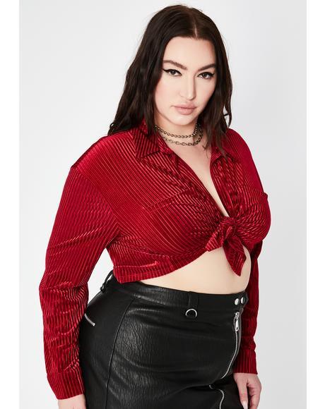 Ruby Bae Borderline Obsessed Velvet Top