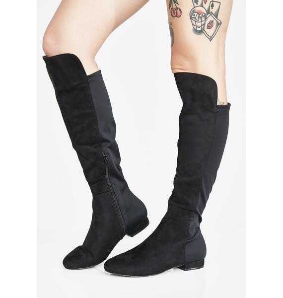 Step To The Side Knee High Boots