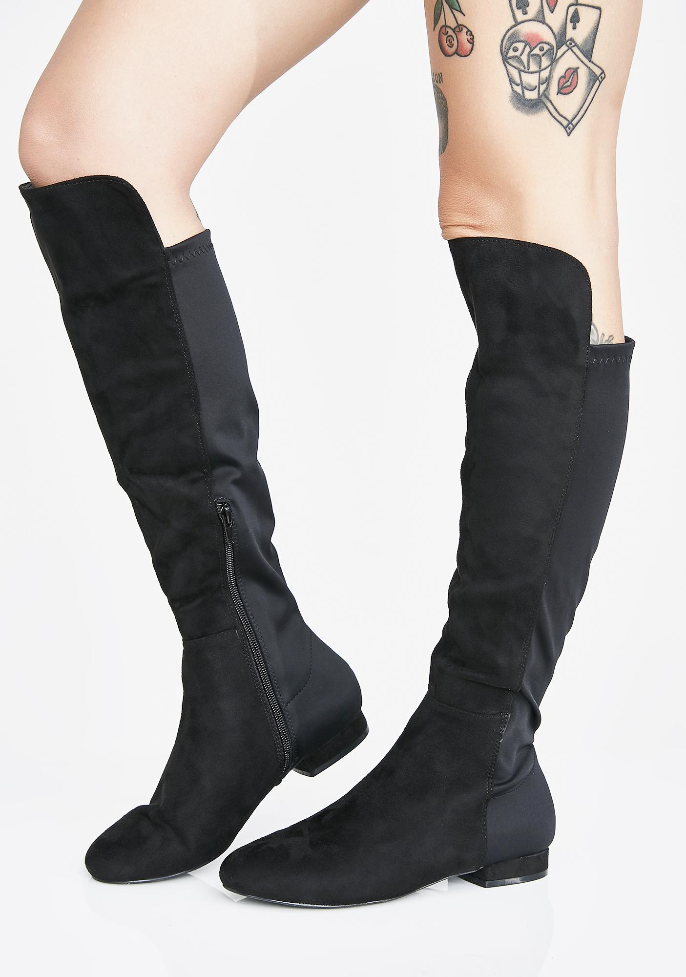 162cd70b25d Step To The Side Knee High Boots