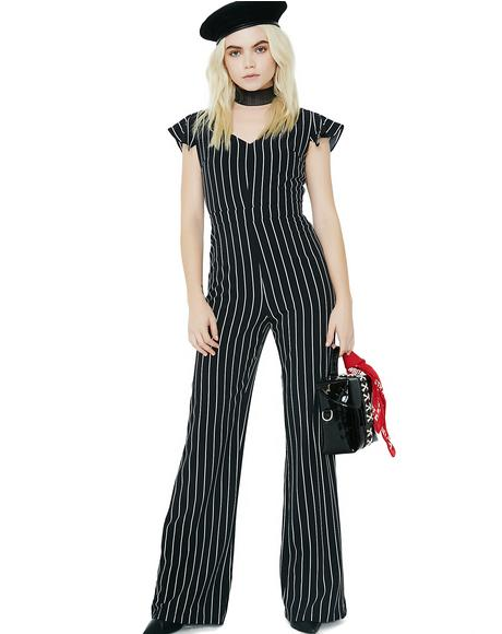 Follow My Lead Striped Jumpsuit
