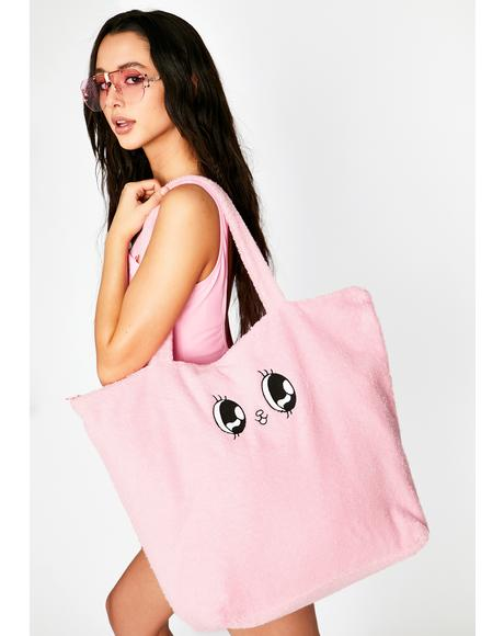 Esther Towelling Bunny Tote Bag