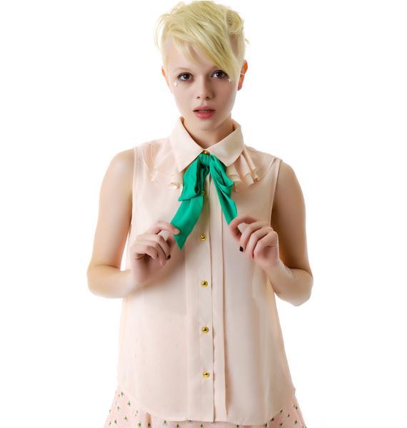 Bow Tie Sleeveless Shirt