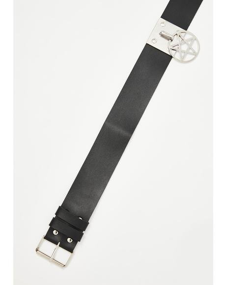 Unholy Faith Pentagram Belt