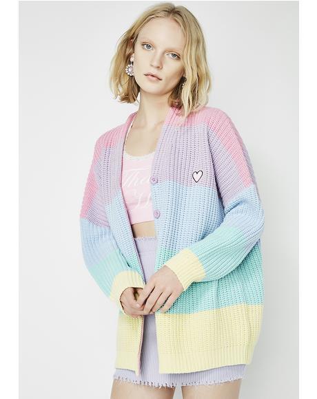 Pastel Rainbow Cardigan