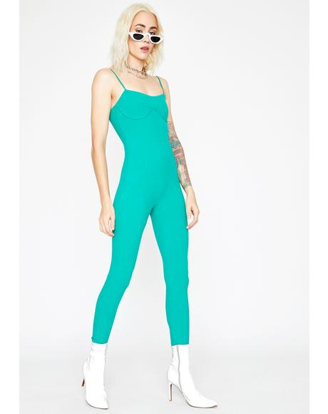Emerald Serve Bawdy Underwire Jumpsuit