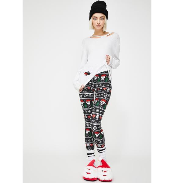 Too Fast Ho Ho Ho Christmas Sweater Leggings
