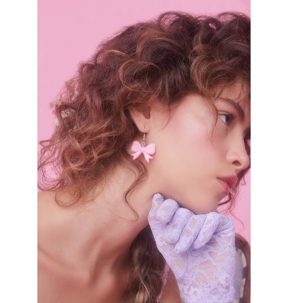 Little Miss Lovely Bow Earring Set