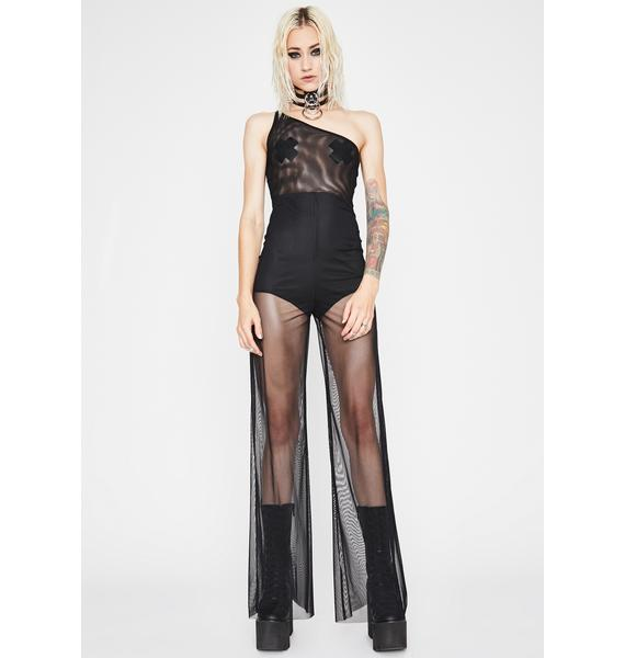 Goddess Intent Mesh Jumpsuit