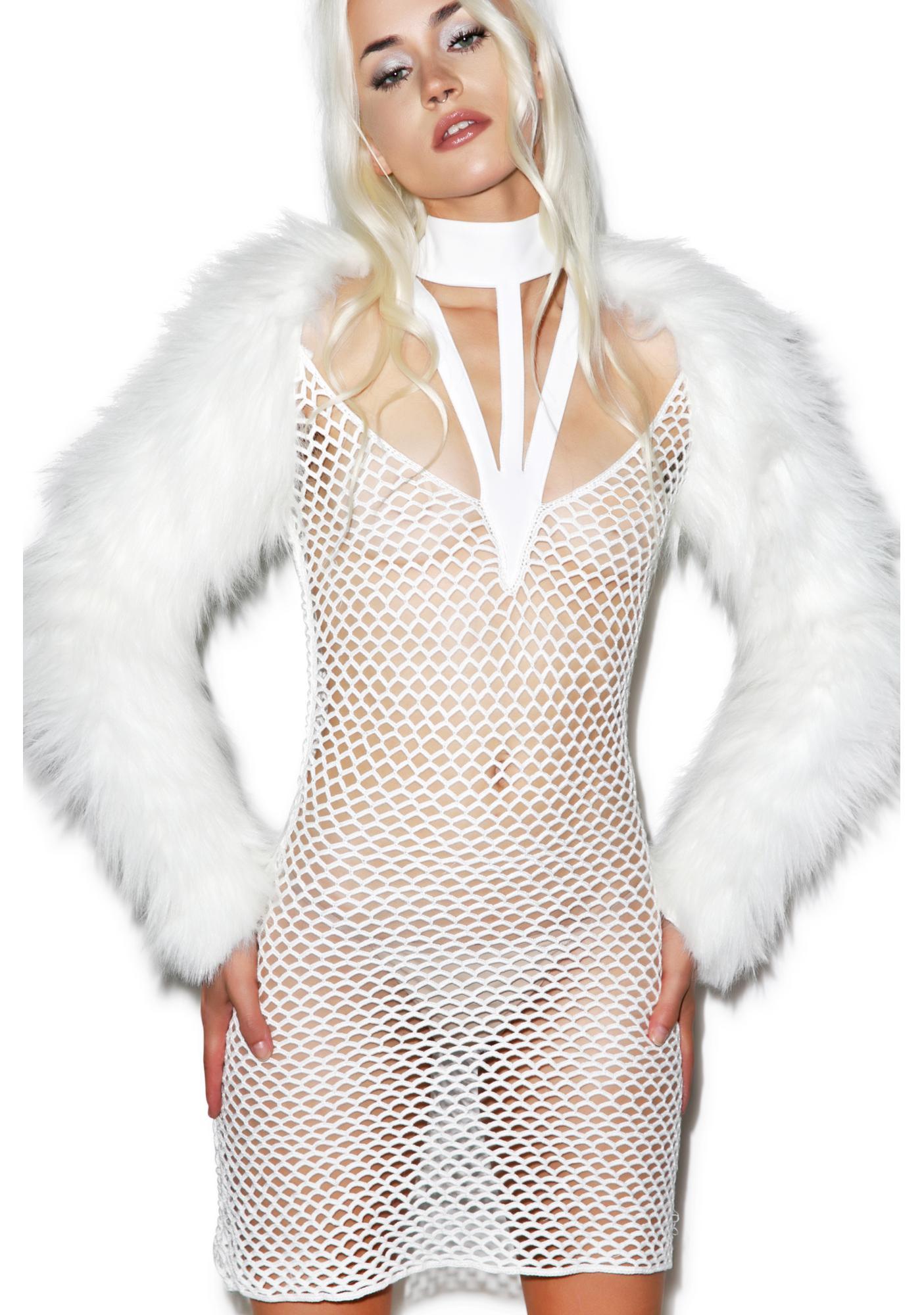 Maria ke Fisherman Haute Crochet Dress