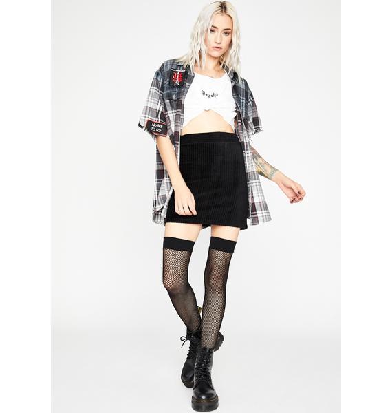 Baddie Catch Feelings Corduroy Skirt