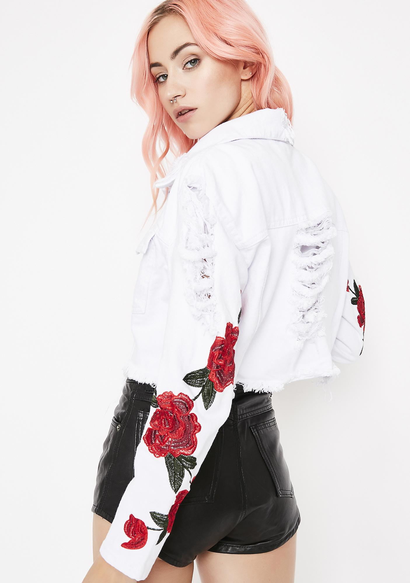 Rosemantic Distressed Jacket by Settle Down