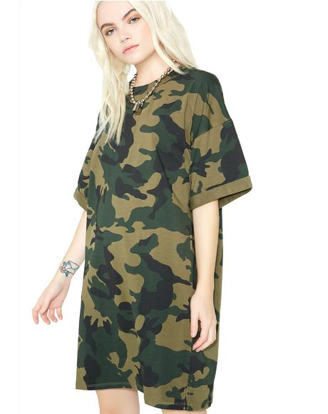 Full Force Camo T-Shirt Dress