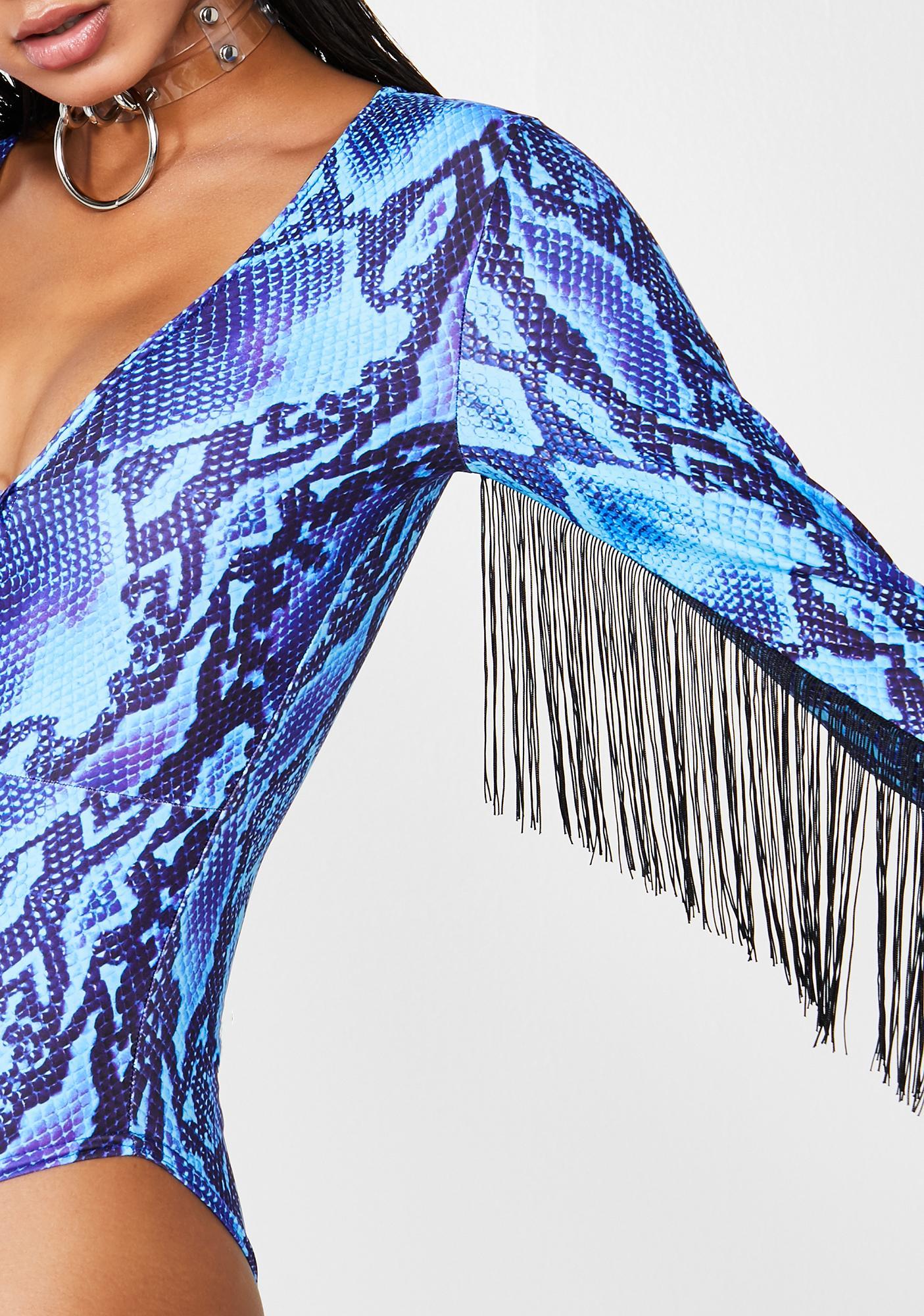 Get Crooked Blue Viper Plunge O-Ring Bodysuit