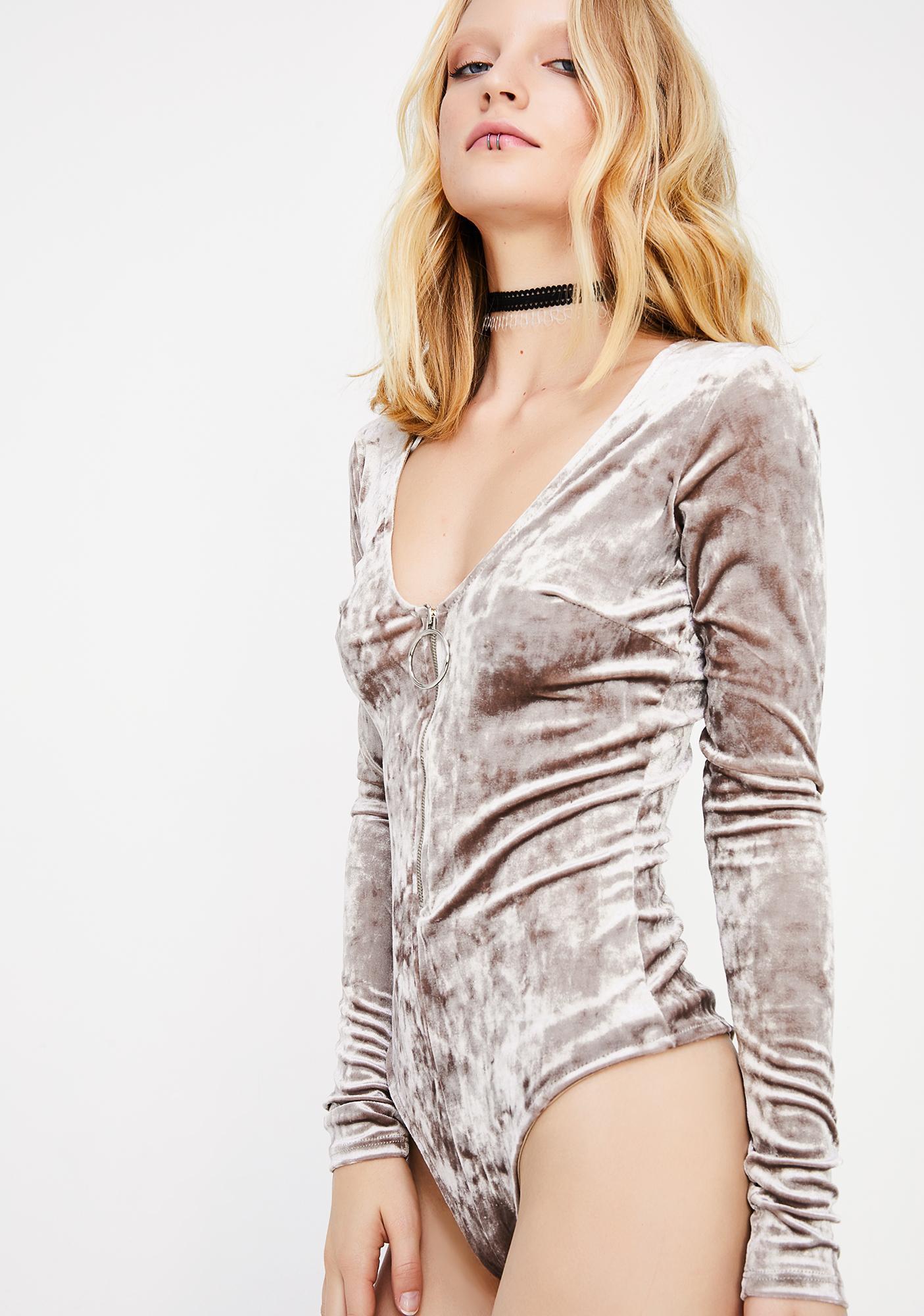 Sweet Seduction Velvet Bodysuit