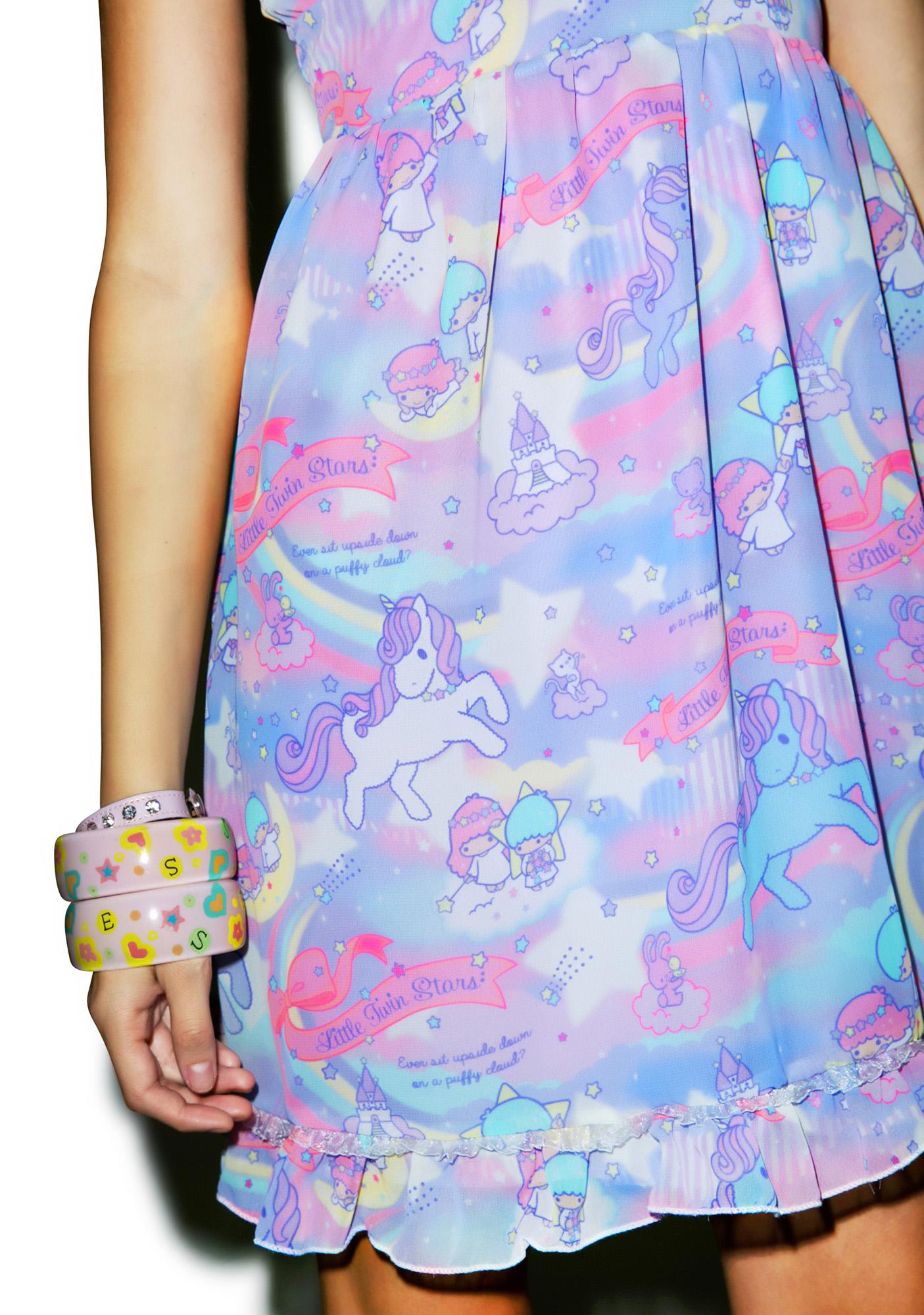Japan L.A. Little Twin Stars Dreamy Unicorn Babydoll Dress