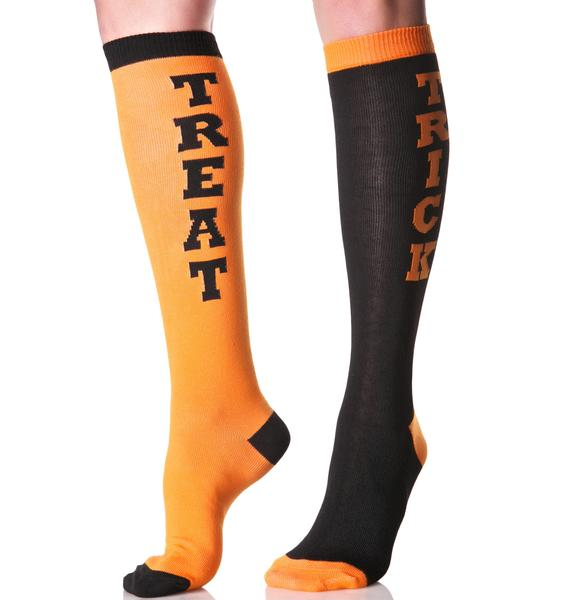 Trick Or Treat Knee High Socks