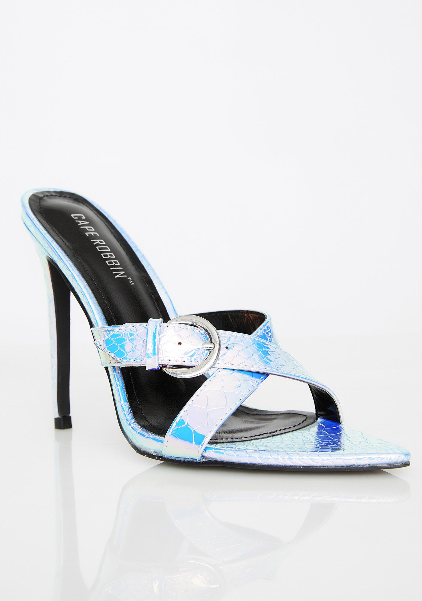 Mermaid Crossing Wrap Heels