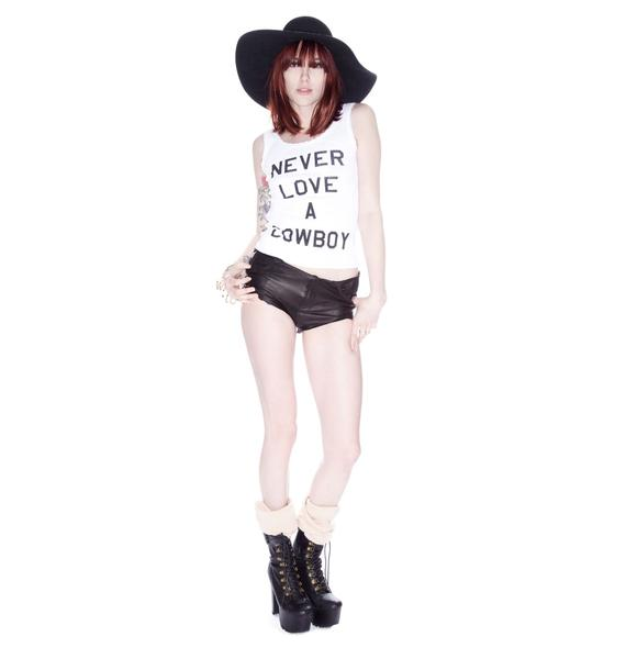 Wildfox Couture Never Love a Cowboy Buffalo Tank
