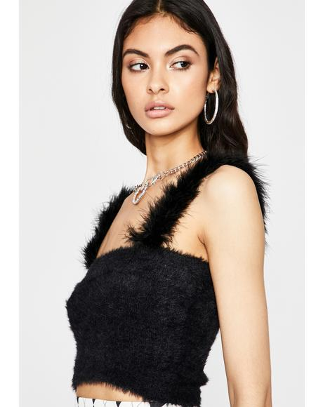 Noir Warm N' Fuzzy Crop Top