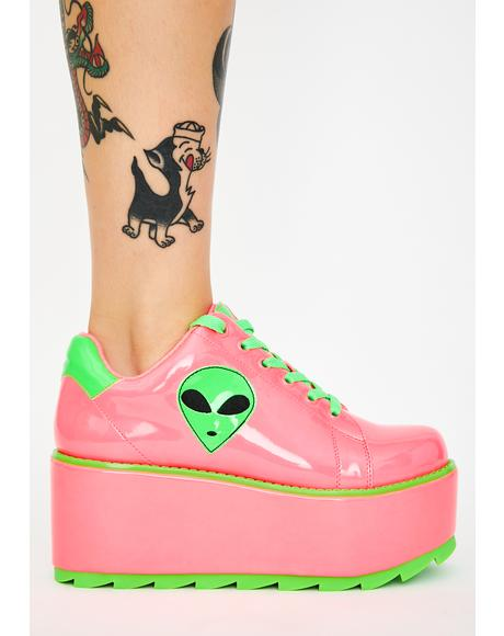 Lala Alien Platform Sneakers
