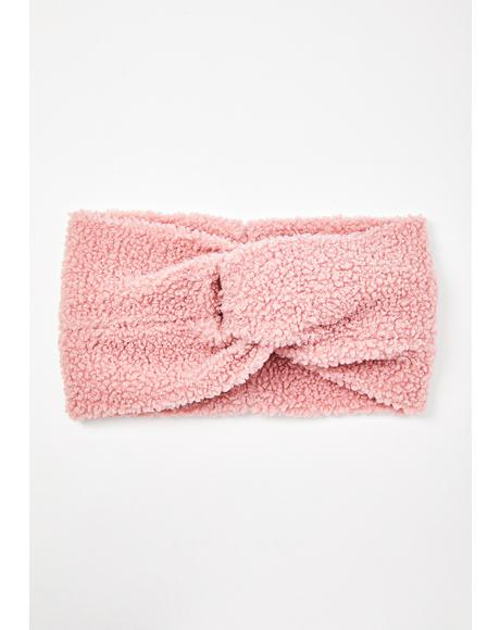 Pink Leah Teddy Headwrap