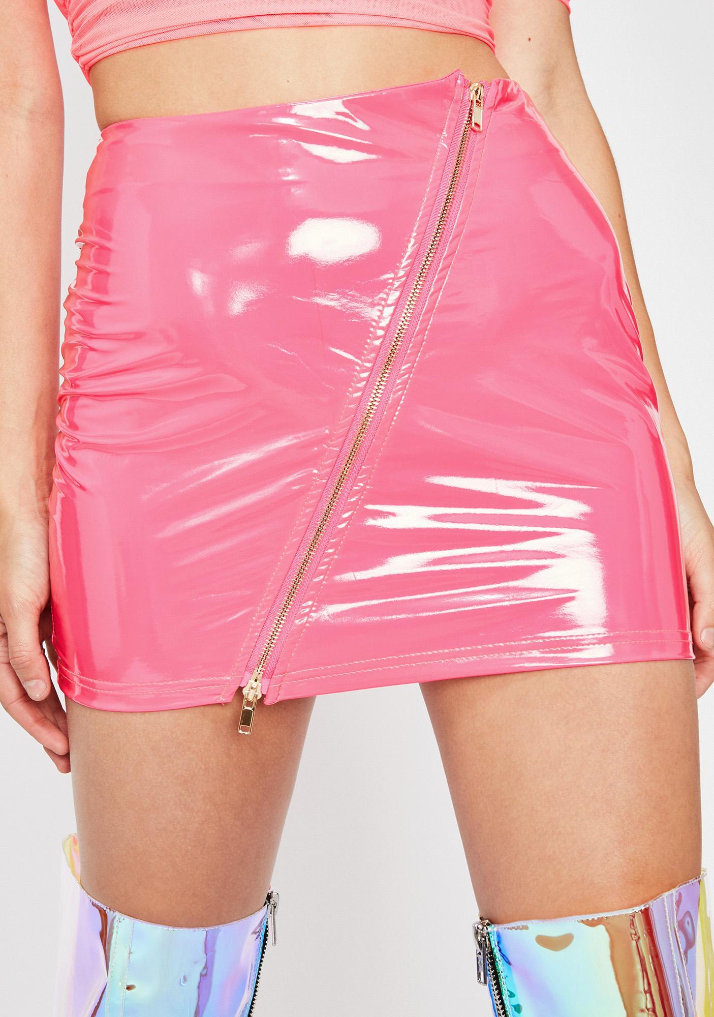 Galactic Glam Vinyl Skirt