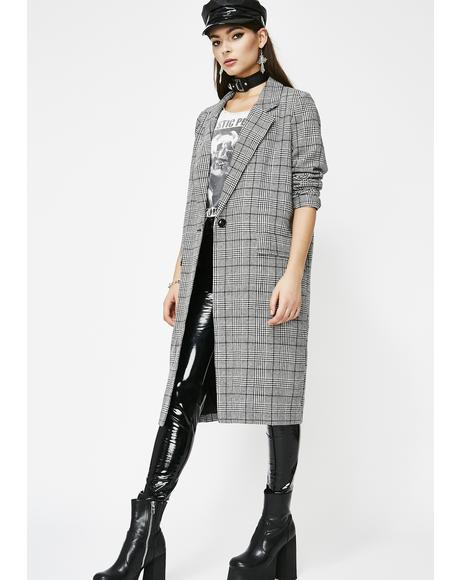 No Drama Mama Plaid Coat