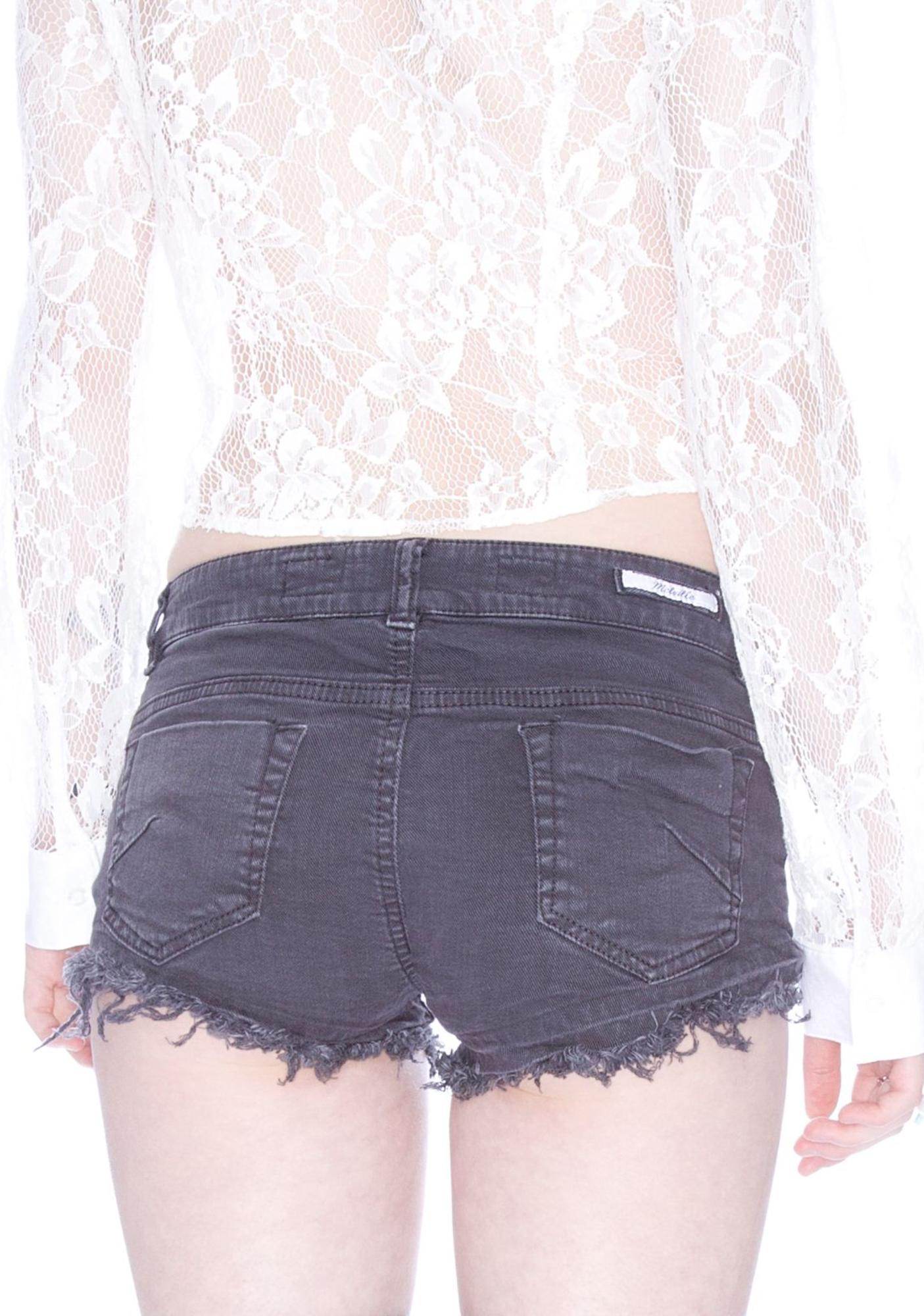 Slate Denim Shorts