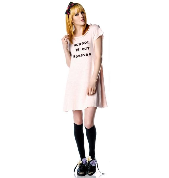 Wildfox Couture School's Out Grunge Girl Dress