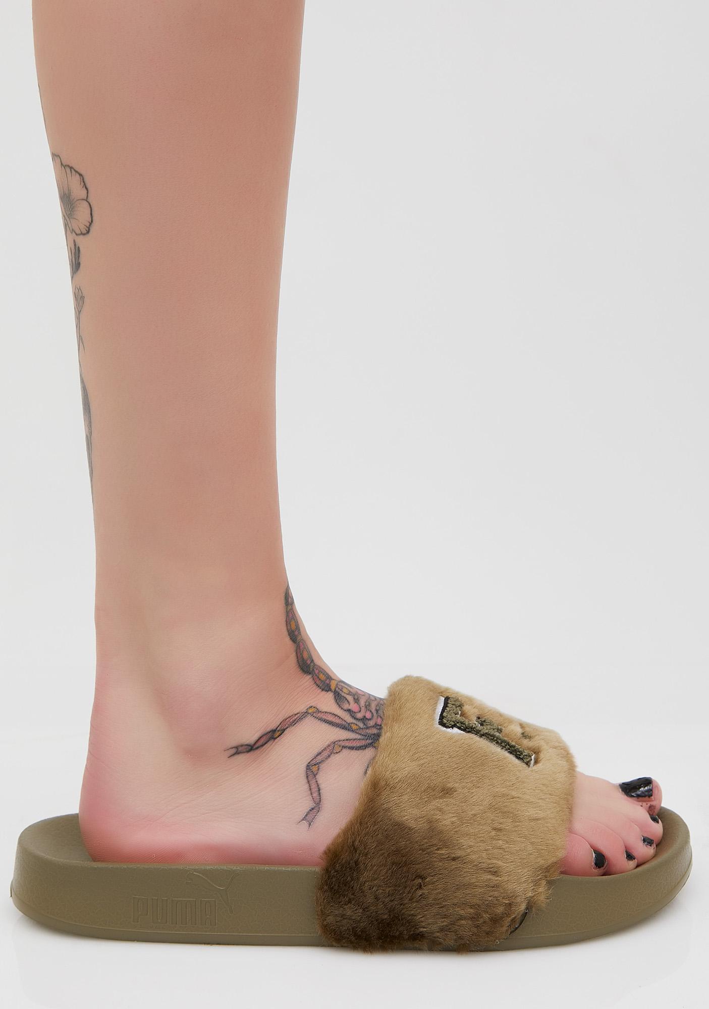 PUMA FENTY PUMA BY Rihanna Olive Leadcat FU Slides