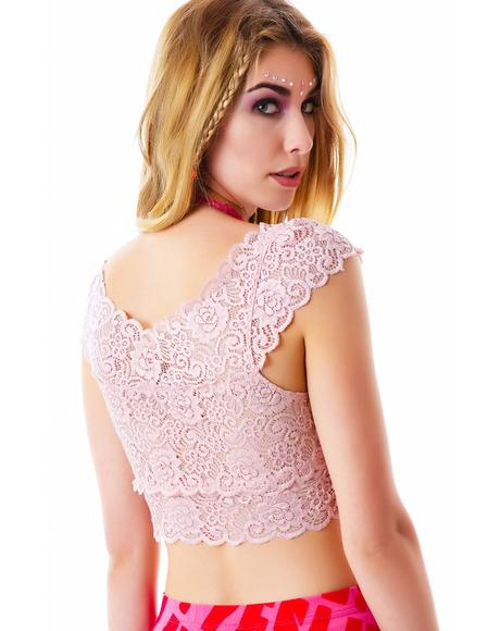 El Dorado Lace Crop Top