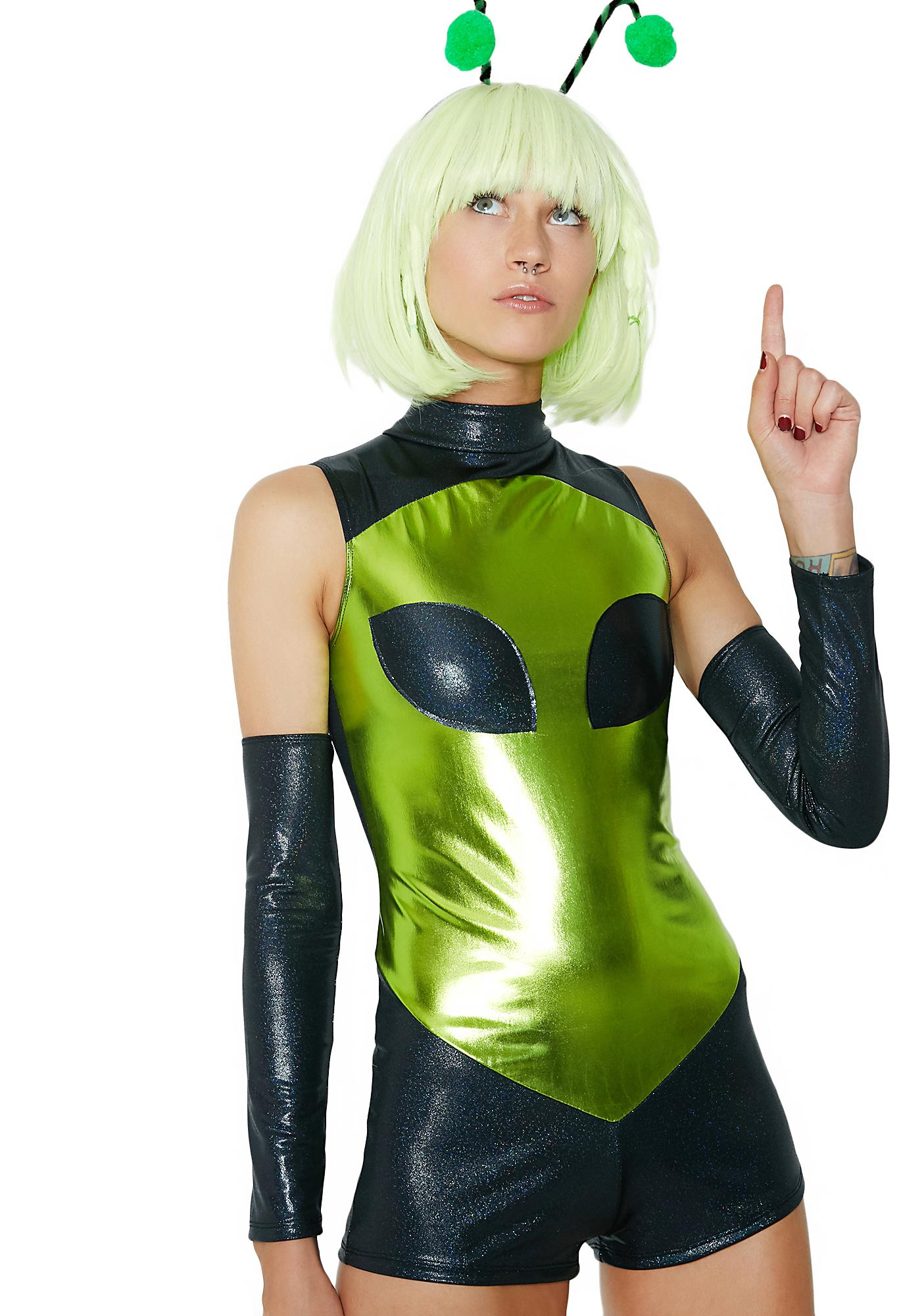 Dolls Kill Space Bae-lien Costume Set