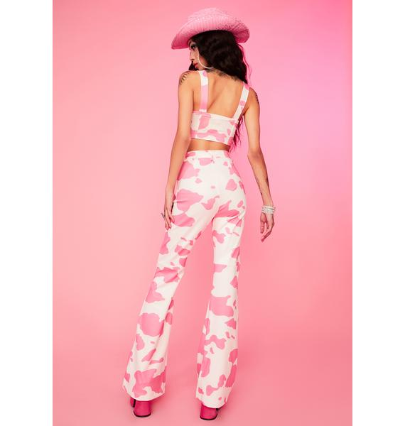 Lady Everything's A1 Cow Print Pants