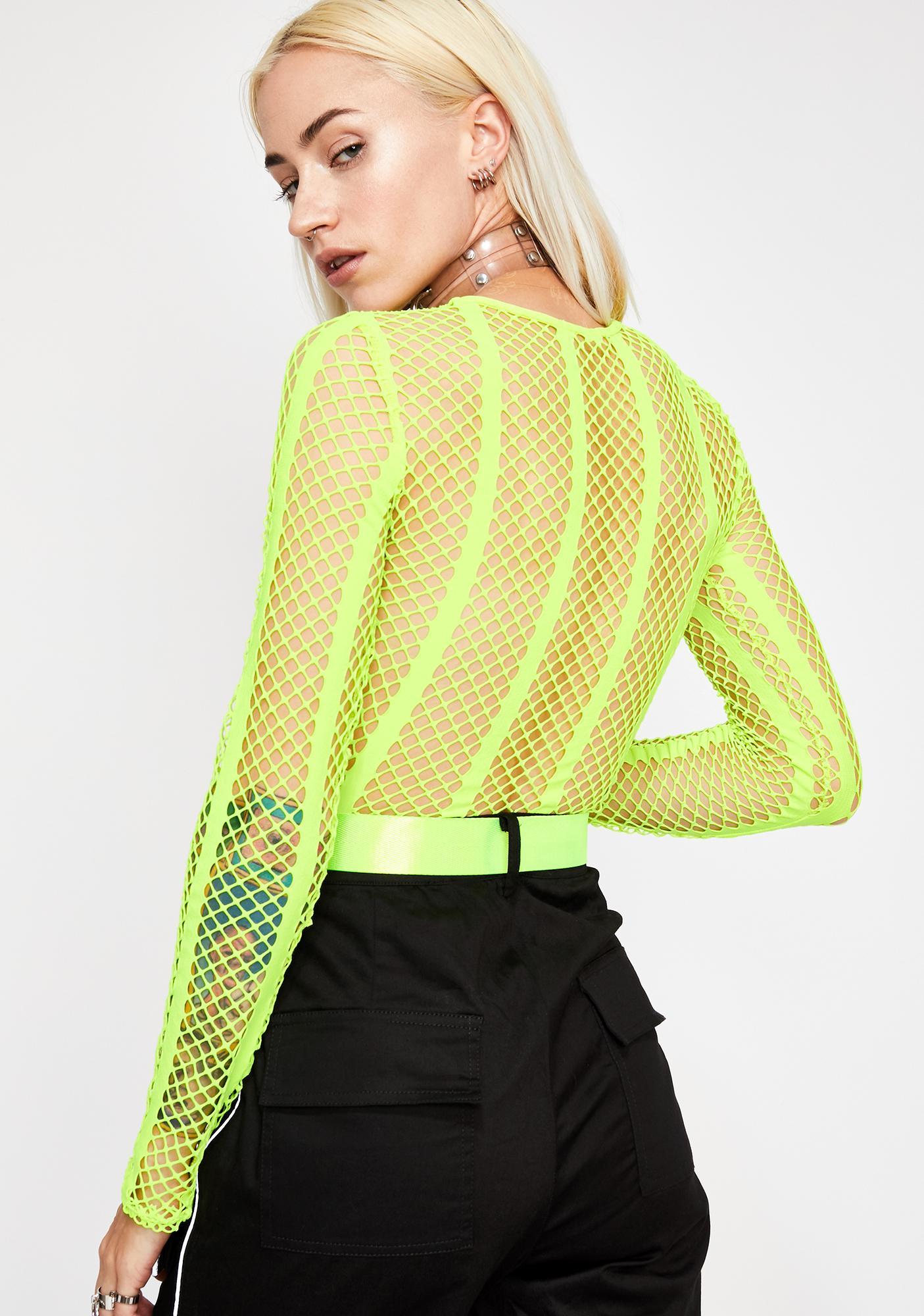 Neon Emotionz Fishnet Bodysuit