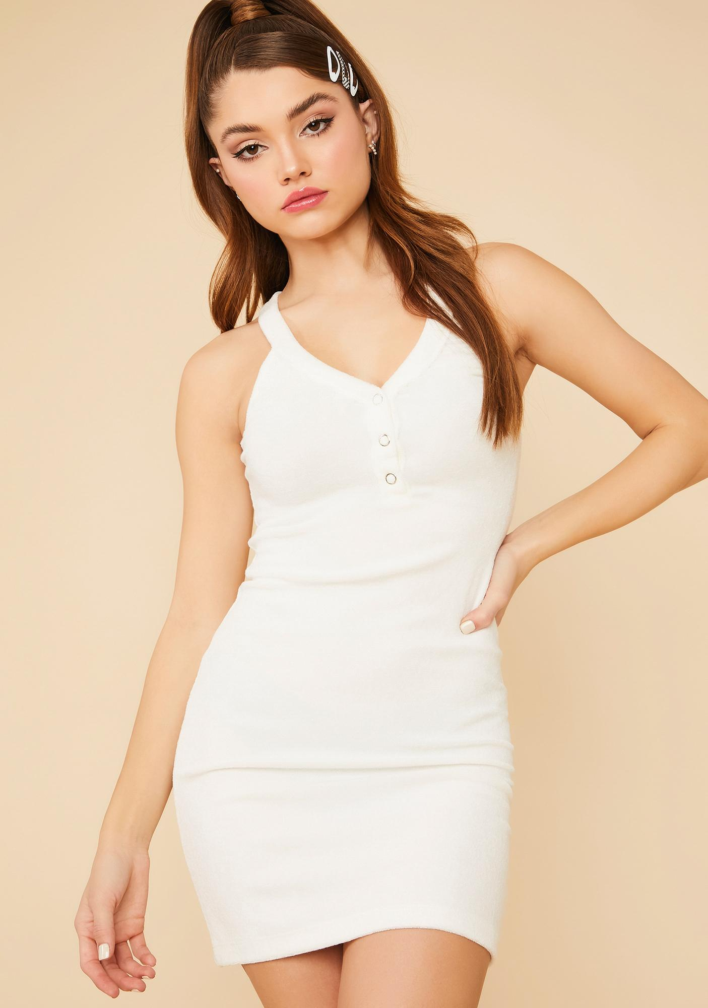 Test My Patience Halter Mini Dress