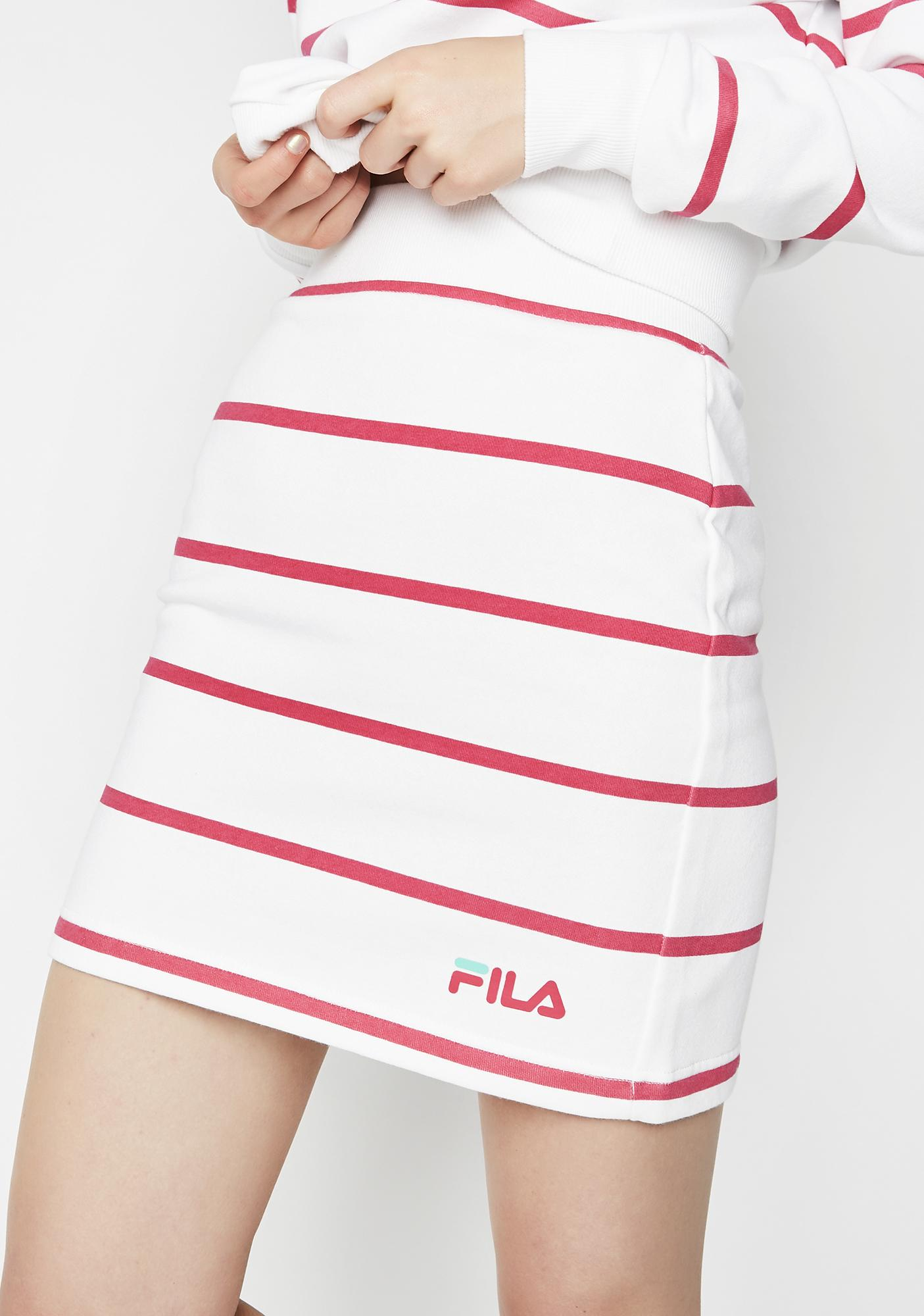 Fila Magenta Liri Striped Skirt