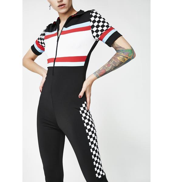 Speed Racer Zip-Up Jumpsuit