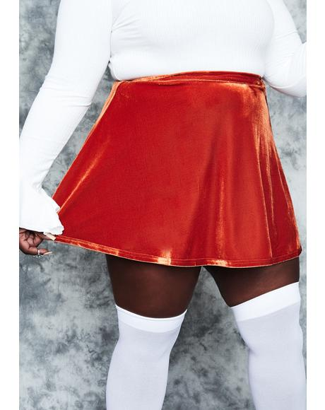 Real History Repeating Velvet Mini Skirt