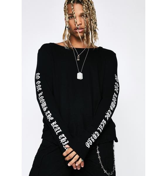 Reality Check Long Sleeve Tee