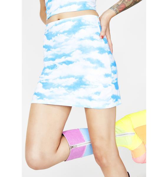 Rheabfunky In The Clouds Mini Skirt